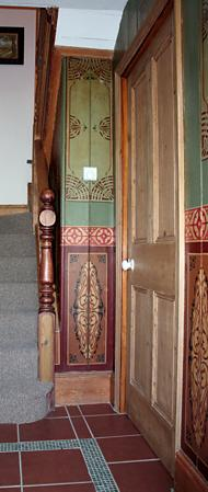 Original pannels in hall